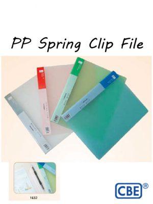 CBE PP Spring Clip File