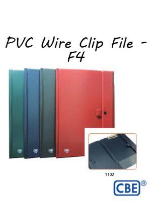 CBE PVC Wire Clip File - F4