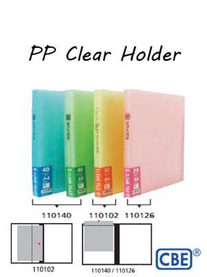 CBE PP Clear Holder